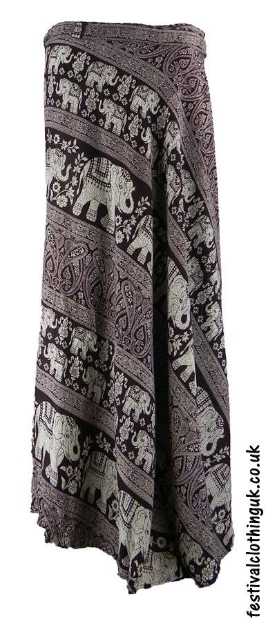 Long-Wrap-Elephant-Festival-Skirt-Brown